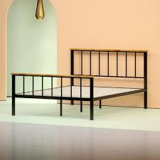 Wood And Metal Bed Frame Metal And Wood Contemporary Platform Bed Frame Zinus