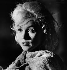 marilyn monroe had purple blotches on her face falsie and