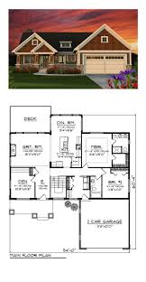 Cottage Plans With Garage Craftsman House Plan 75202 Total Living Area 1734 Sq Ft 2