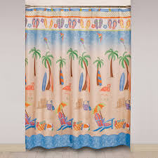 Beachy Shower Curtains Mainstays Just Beachy Shower Curtain And Hook Set Walmart