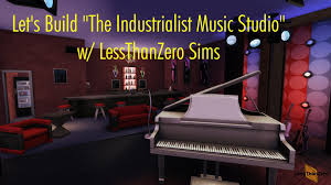 lets build the industrialist music studio the sims 4 room build