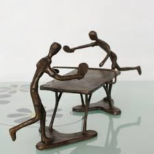 Decorative Sculptures For The Home Cast Iron Table Tennis Sculpture For Home Decoration Buy Small