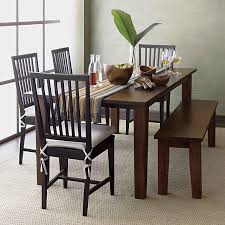 Village Bruno Black Wood Dining Chair And Natural Cushion Crates - Crate and barrel dining room tables