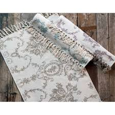 tappeto blanc mariclo blanc maricl祺 tappeto in cotone toile de jouy collection colore