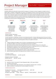 Sample Project List For Resume by Project Manager Cv Template Construction Project Management Jobs