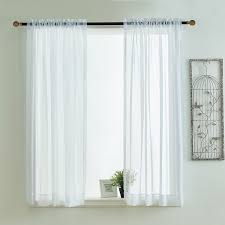 Curtains And Valances Kitchen Curtains Valances Rod Pocket Decorative White Cafe