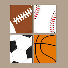 Sports Nursery Wall Decor Sports Wall Baby Boy Nursery Boy Bedroom Canvas Or Prints