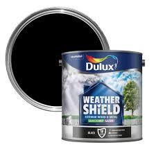Metal Paint Exterior - dulux weathershield exterior black satin wood u0026 metal paint 2 5l