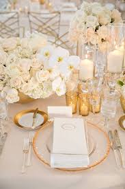 mesmerizing gold and white wedding table decorations 14 in wedding