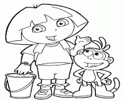 dora ice skating winter3ff3 coloring pages printable