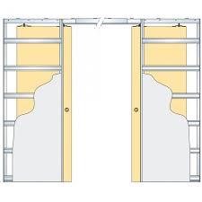 eclisse patterned glass sliding pocket door system double door