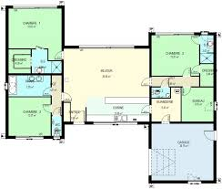 plan maison plain pied 5 chambres plan de maison plain pied 5 chambres 10 construction 86 fr gt