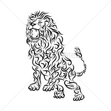 tattoo design lion lion tattoo design vector image 1467768 stockunlimited