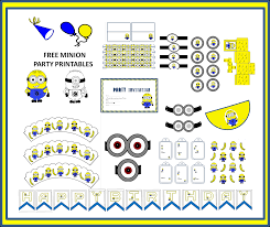free minion party printables craft ideas party