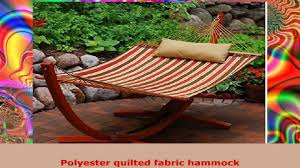 12 Foot Hammock Stand Algoma 12 Foot Wooden Arc Frame With Quilted Hammock And Matching