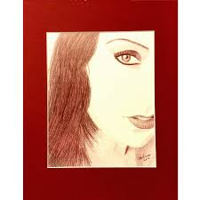 mahogany red eye colored pencil painting carol ann u0027s art