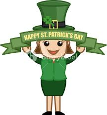 happy st patrick u0027s day cartoon business characters royalty free