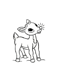 rudolph reindeer glowing red nosed coloring color luna