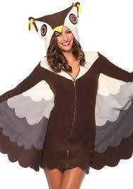 Owl Halloween Costume Adults Cozy Fleece Owl Halloween Costume