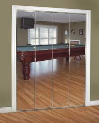 Mirrored Folding Closet Doors Mirror Design Ideas Frameless Closet Bifold Mirrored Wardrobe
