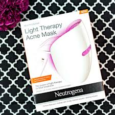 blue and red light therapy for acne first look neutrogena s light therapy acne mask acne mask light