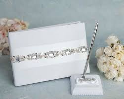wedding registry book glam wedding guestbook and pen set handmade cards boutique