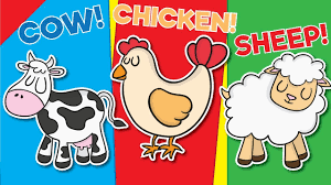 learn farm animals for flash cards kindergarten