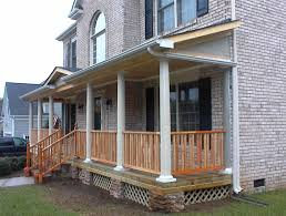 exterior inspiring image of front porch decoration using square