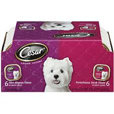 cesar cuisine cesar canine cuisine top sirloin and grilled chicken multipack