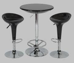 chrome pub table 3pc game room dinettes small space kitchen