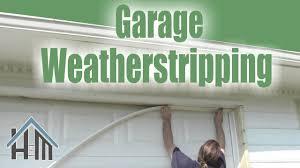 garage door bottom weather seal how to install replace garage door weatherstripping easy home