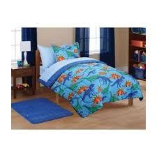 Blue Full Comforter Amazon Com 7pc Boy Blue Green Dinosaur Full Comforter Set 7pc