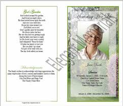 funeral programs exles sle funeral program memorial booklet sles funeral programs
