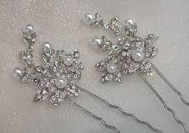 wedding hair pins swarovski rhinestone bridal hair pins