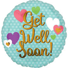 get well soon and balloons anagram 18 inch get well soon hearts from category get well