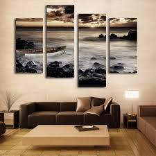 aliexpress com buy sunrise canvas prints boat wall art painting