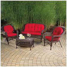 wilson fisher charleston resin wicker 4 piece seating set at big