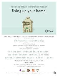 diy home improvement mini expo event calendar view city of home improvement expo lewisville flyer