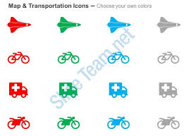 space shuttle bicycle ambulance motorcycle ppt icons graphics