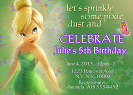 Invitation Card For Holy Communion Extraordinary Tinkerbell Invitation Cards For Birthdays 16 On