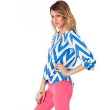 blue and white chevron blouse my blouses
