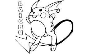 pokemon raichu coloring pages getcoloringpages