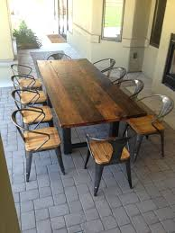 reclaimed wood dining room table dining room fabulous large round table big solid wood with glass