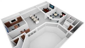 3 D Floor Plans by Floor Plan 3d View Cottage Plans