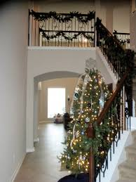 Christmas Railing Decorations Staircase Christmas Decorating Ideas Christmas Lights Decoration