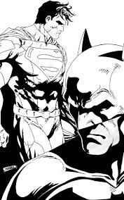 sketch batman and superman by y632ko on deviantart