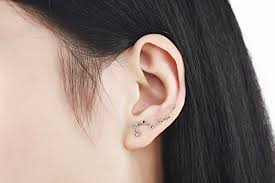 climber earrings iris gemma constellation ear cuff platinum plated ear crawler