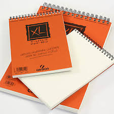 canson xl spiral sketch pad drawing papers in spiral bound pads
