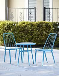 amazon com cosco outdoor living 3 piece cottage bistro steel patio