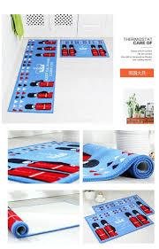 Long Doormats Printing Absorbent Non Slip Bathroom Carpet Hallway Floor Door